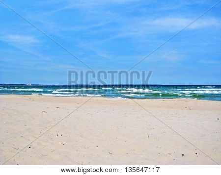 Beach In Timmendorfer Strand, Baltic Sea, Germany