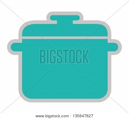 kitchen pot isolated icon design, vector illustration  graphic