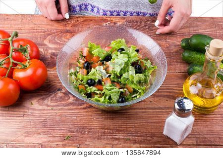 Ready Vegetables Salad In A Plate