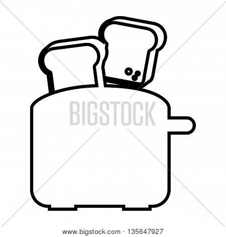 electric toaster  isolated icon design, vector illustration  graphic