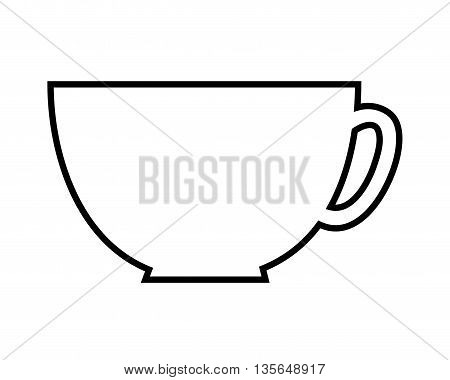 coffee cup isolated icon design, vector illustration  graphic