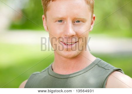 Portrait of a Caucasian man