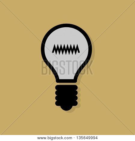 Abstract Light Bulb icon or sign, vector illustration