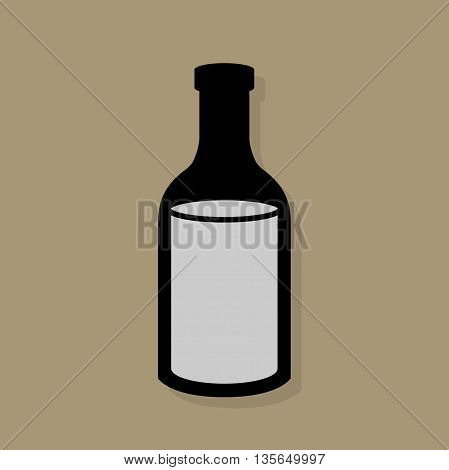 Abstract Bottle icon or sign, vector illustration