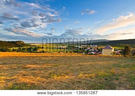 Valley of river Vah in Trencin region, western Slovakia.