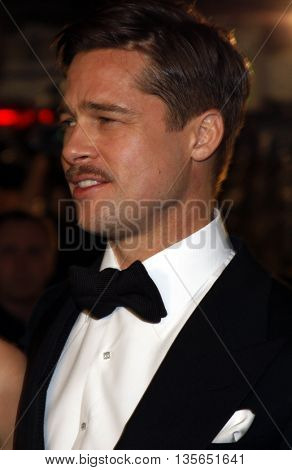 Brad Pitt at the Los Angeles premiere of 'The Curious Case of Benjamin Button' held at the Mann Village Theater in Westwood, USA on December 8, 2008.