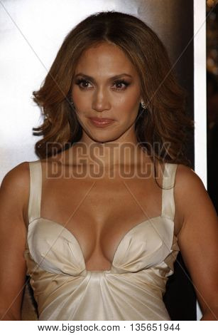 Jennifer Lopez at the Los Angeles premiere of 'The Curious Case of Benjamin Button' held at the Mann Village Theater in Westwood, USA on December 8, 2008.