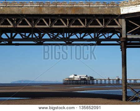 North Pier at Blackpool viewed from central Pier