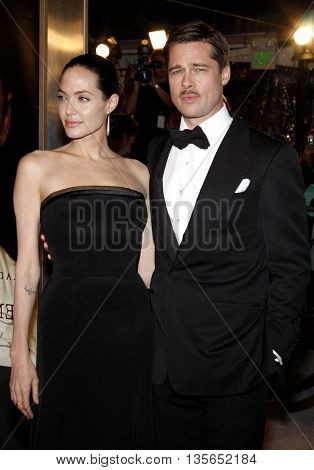 Brad Pitt and Angelina Jolie at the Los Angeles premiere of 'The Curious Case of Benjamin Button' held at the Mann Village Theater in Westwood, USA on December 8, 2008.