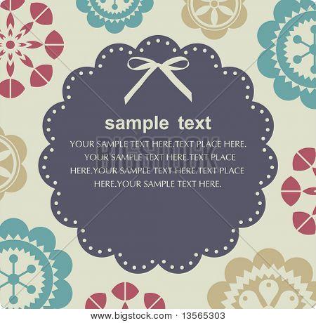 Vector diseño de tarjeta de flor