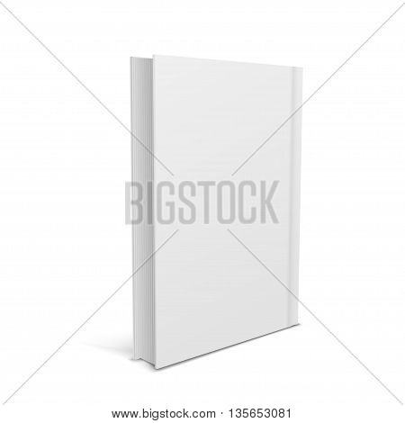Blank vertical book isolated on a white background. vector illustration.