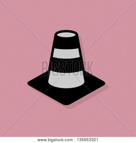 Abstract Construction Cone icon or sign, vector illustration