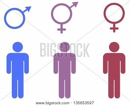 Gender symbols set symbol computer icon females males transgender