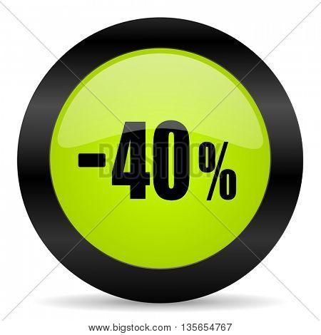 40 percent sale retail icon