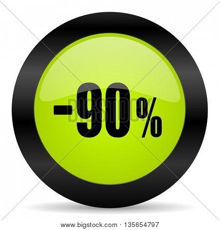 90 percent sale retail icon