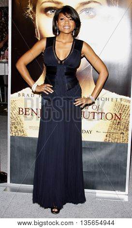 Taraji P. Henson at the Los Angeles premiere of 'The Curious Case of Benjamin Button' held at the Mann Village Theater in Westwood, USA on December 8, 2008.