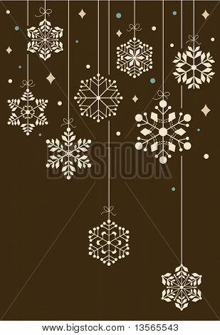Vector Set der Schneeflocken Hintergrund