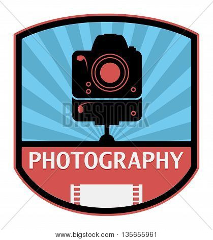 Abstract Photography label or sign, vector illustration
