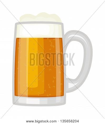 Frosty glass of light beer set isolated on white background. Beer cup alcohol and beer cup lager yellow beverage. Beer cup mug liquid white foam and bubble foam beer cup cold drip refreshment.