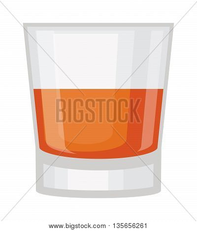 Whisky shot cup vector illustration. Refreshment rum beverage whisky shot cup. Whisky shot cup pub liquid, cocktail brandy short drink. Party drunk symbol. Drunkard spirit booze toast.