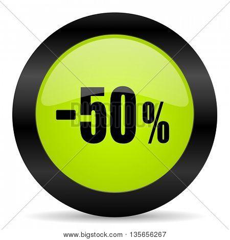 50 percent sale retail icon