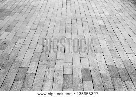 Old White Wooden Parquet. Background Photo