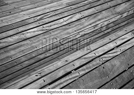 Construction Made Of Gray Wooden Planks