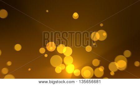 gold dust bokeh with yellow golden light.