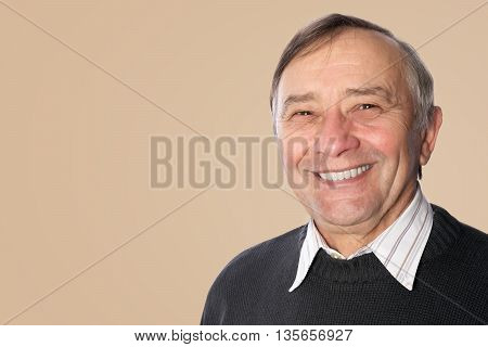 Happy smiling senior man portrait, smiling male