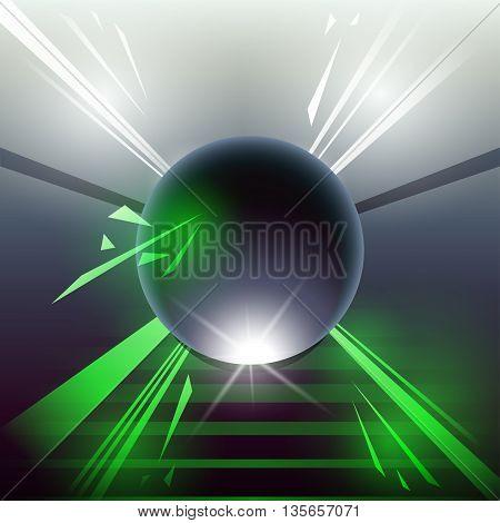 Sci-fi Laser Sphere Green