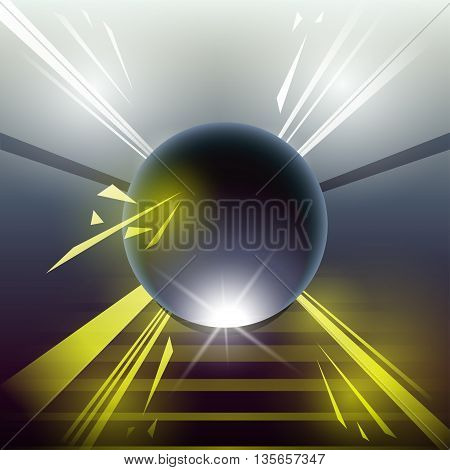 Sci-fi Laser Sphere Yellow
