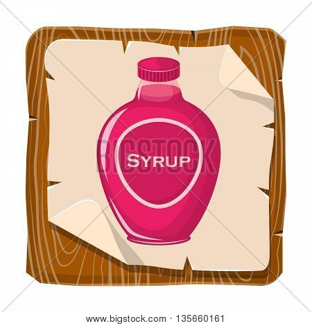 Syrup Colorful Bottle