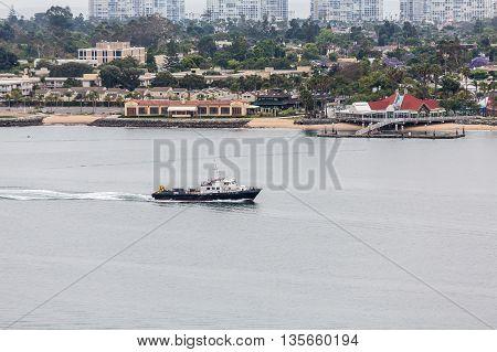 Working Boat in San Diego Channel near Coronado Island