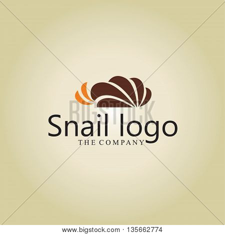 snail logo ideas design vector on background