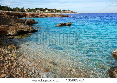 Denia Las Rotas in Mediterranean sea of Alicante Spain