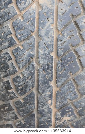 Clouse up of old tire pattern background