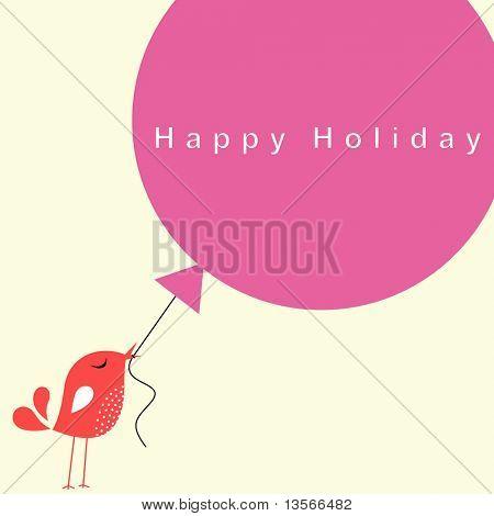 bird with balloon