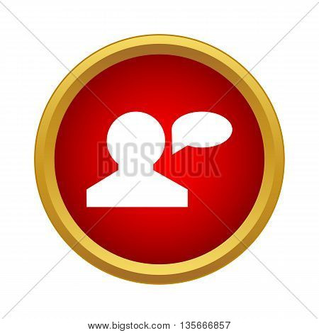 Talk icon in simple style isolated on white background