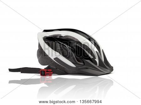 Bicycle Helmet Head Safety. With clipping path