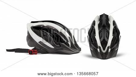 Bicycle Helmet Head Safety. Side and top.
