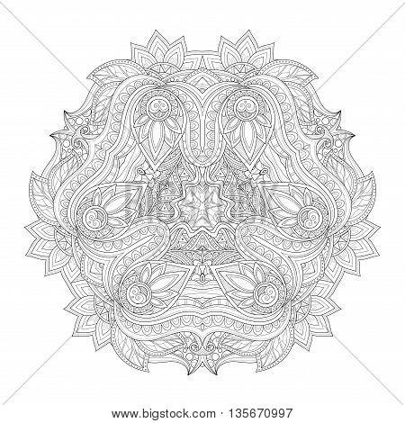 Vector Beautiful Deco Monochrome Triangle