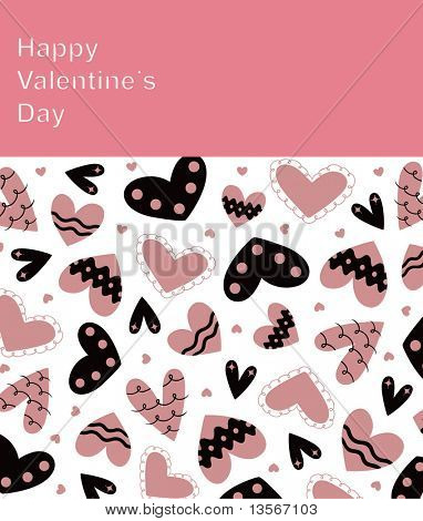 Vector hearts background design