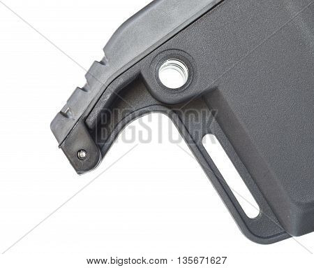 Hinge that allows the butt pad on a rifle stock to open and sling groove