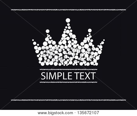 silhouette of a crown of white diamonds