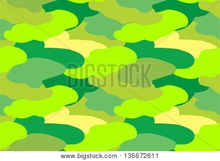 Camouflage fabric green color military style seamless print pattern vector illustration