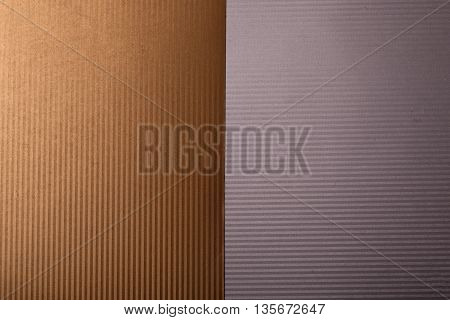 corrugated paperboard texture background of cardboard paper white and brown color copy space