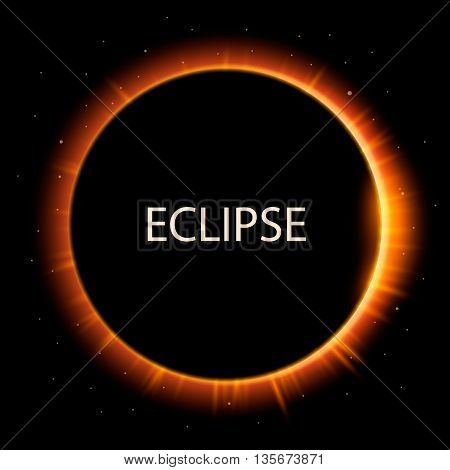 Total eclipse of the sun, eclipse background