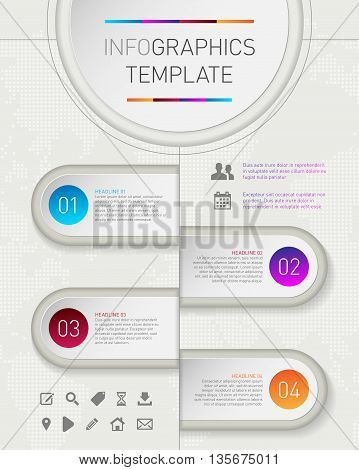 Info Graphic Frames And Background For Text And Icons