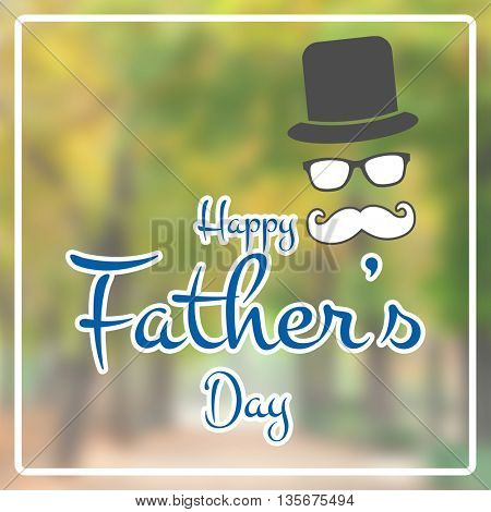 Happy fathers day against wooden background