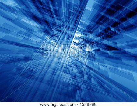 Blaue Cyberspace